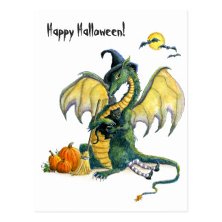 Halloween Dragon postcard
