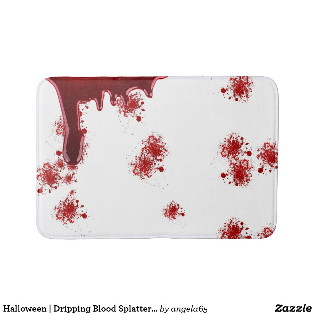 Dripping Blood Gore Halloween Bleeding Bath Mat