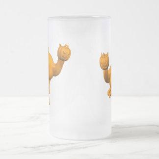 Halloween Dromedary Frosted Glass Beer Mug