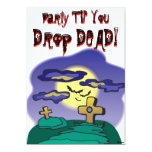 "Halloween- Drop DEAD party 5"" X 7"" Invitation Card"