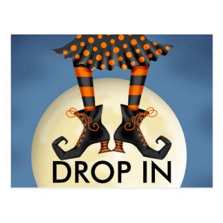 Halloween (Drop In) Postcard Invitation