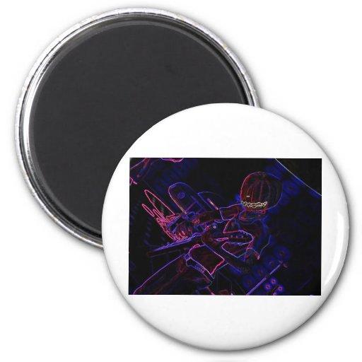 Halloween Drums 2 Inch Round Magnet