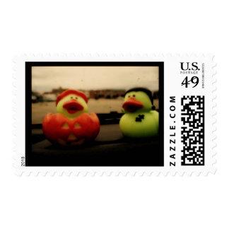 Halloween Ducks Postage Stamp