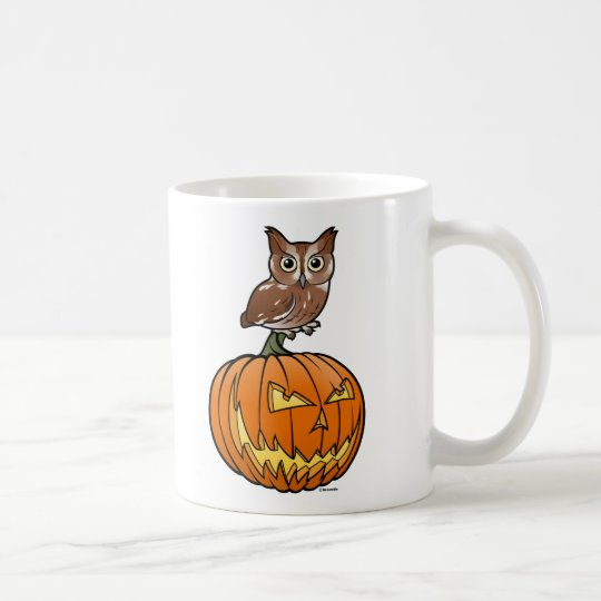 Halloween Eastern Screech Owl Coffee Mug