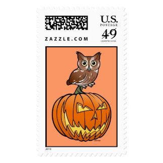 Halloween Eastern Screech Owl Postage