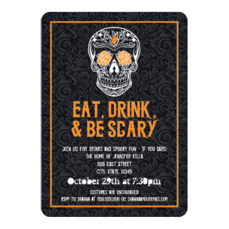 Halloween Eat, Drink, & Be Scary Party Invitations