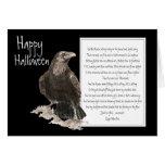 Halloween, Edgar Allen Poe, cuervo, nunca más Tarjetas