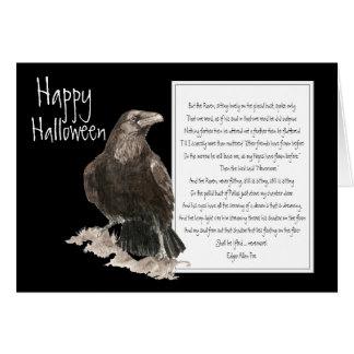 Halloween, Edgar Allen Poe, cuervo, nunca más Tarjeta De Felicitación