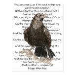 Halloween, Edgar Allen Poe, cuervo, nunca más Tarjeta Postal