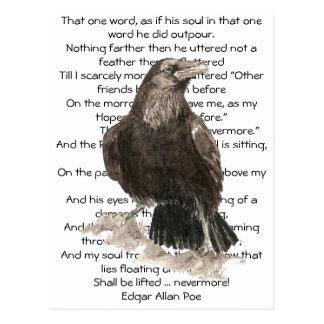 Halloween, Edgar Allen Poe, cuervo, nunca más Tarjetas Postales