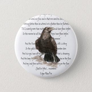 Halloween, Edgar Allen Poe, Raven, Nevermore Button