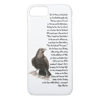 Halloween Edgar Allen Poe Raven Poem iPhone 8/7 Case