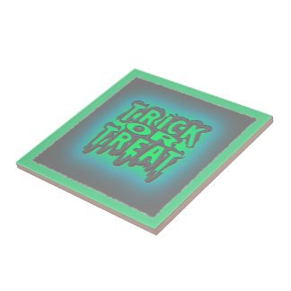 Halloween Eerie Trick or Treat Dripping Sign Tiles
