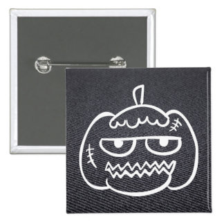 Halloween Eggheads Sign 2 Inch Square Button