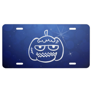 Halloween Eggheads Sign License Plate
