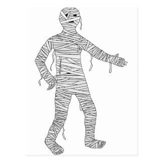 Halloween Egyptian Mummy Postcard