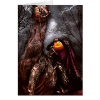 Halloween - el jinete sin cabeza tarjeta de felicitación