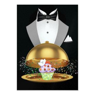 Halloween Elegant Cupcake Invitation - SRF