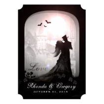 Halloween Elegant Love Silhouette Wedding Invite