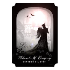 Halloween Elegant Love Silhouette Wedding Invite at Zazzle