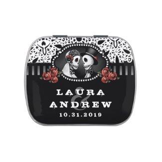 Halloween Elegant Skeletons Black & White Names