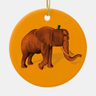 Halloween Elephant Ceramic Ornament