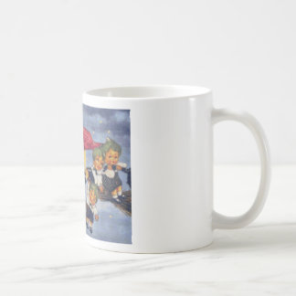 Halloween Elves Cross Stitch Coffee Mug
