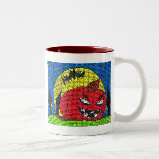Halloween embroma artes abstractos tazas de café