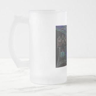 Halloween embroma artes abstractos taza de cristal