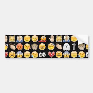 halloween emoji bumper sticker