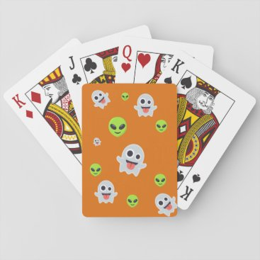 Halloween Themed Halloween Emoji Playing Cards