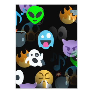 halloween emojis card