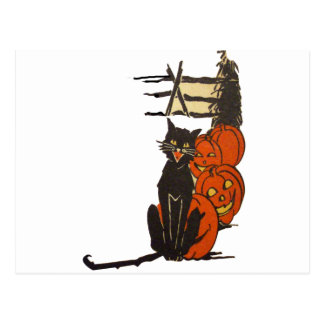 Halloween en la granja (tarjeta de Halloween del Tarjeta Postal