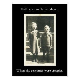 Halloween en los viejos días… postal