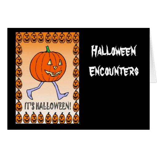 Halloween encounters greeting cards