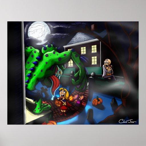 Halloween encuentra a su vecino del monstruo póster