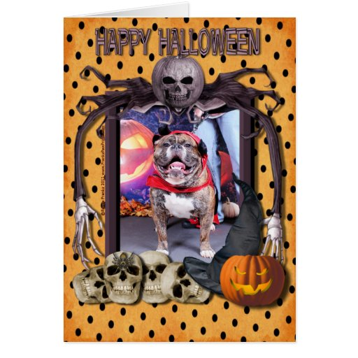 Halloween - English Bulldog - Butkus Stationery Note Card