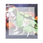 Halloween  English Bulldog Spike - Chihuahua Gizmo Scratch Pads