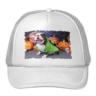 Halloween - English Bulldog - Spike Trucker Hats
