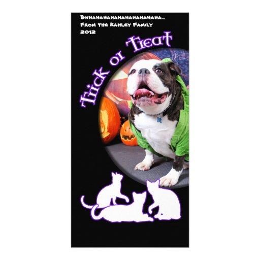 Halloween - English Bulldog - Spike Photo Card