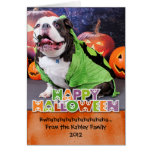Halloween - English Bulldog - Spike Stationery Note Card