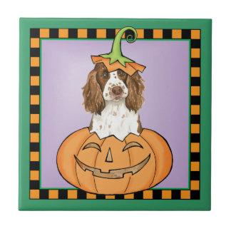 Halloween English Springer Spaniel Tile