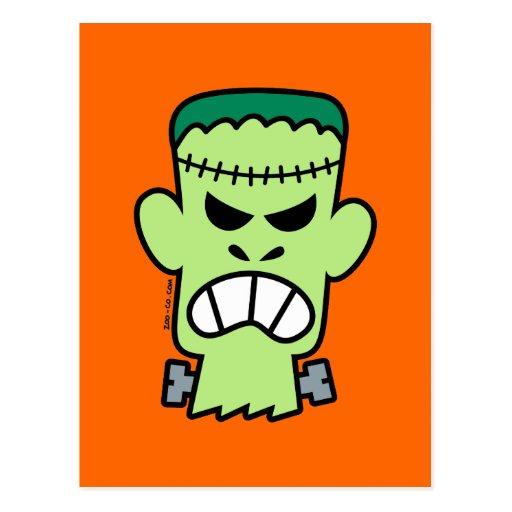 Halloween enojado Frankenstein Postal