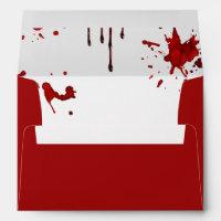 Halloween Envelopes - Blood Dripping
