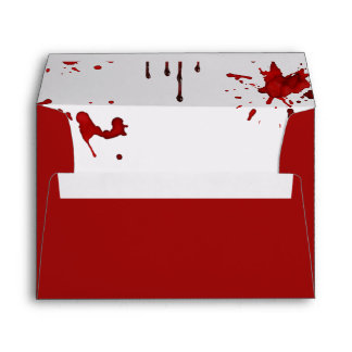 Halloween Envelopes - Blood Dripping