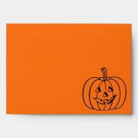 Halloween envelopes | carved pumpkin face design