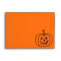 Halloween envelopes | carved pumpkin face design