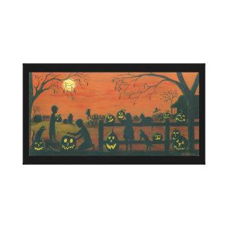 Halloween, envuelto, lona, impresión lona estirada galerías