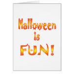Halloween es diversión felicitación