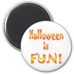 Halloween es diversión imanes para frigoríficos